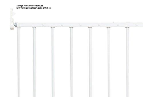 Impag Türschutzgitter Absperrgitter zum Schwenken 88 – 140 cm Astor Weiß - 3