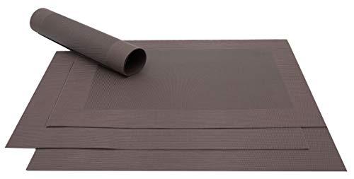 Zollner 4 pezzi di tovagliette all'americana marrone, ca. 32x47 cm, altri colori