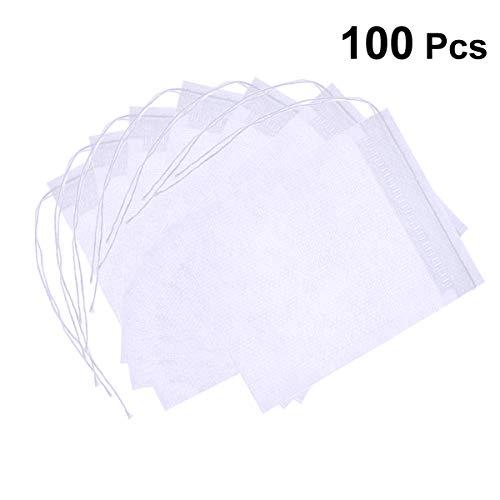 ounona Sachet de te de filtre pour sachet de thé de les feuilles Sacs de filtre de papier 100pcs 70 * 100 mm