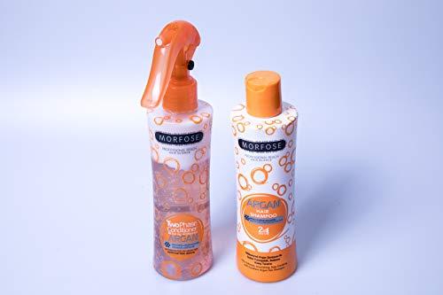 Morfose Argan Haar Shampoo und Spülung Set 230ml 2 in1 2 Phasen Haar Conditioner 220ml Haarpflege Set