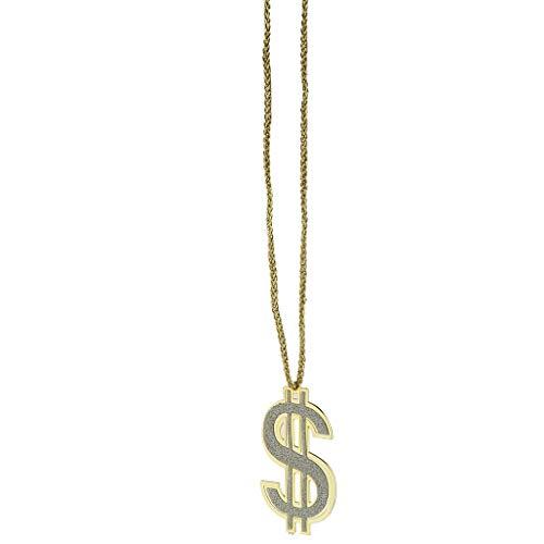 Silber Dollar Kostüm - Baoblaze US Dollarzeichen Kette Dollar Halskette Goldkette Cosplay Kostüm Zubehör, aus Kunststoff - 7 x 4.5 cm