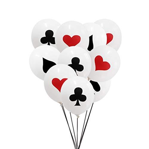 YeahiBaby 24 stücke Poker Ballon Dekorative Latex Spielkarten Ballon Partei Liefert für Geburtstag Poker Party Bar Sonderveranstaltungen 12 inch