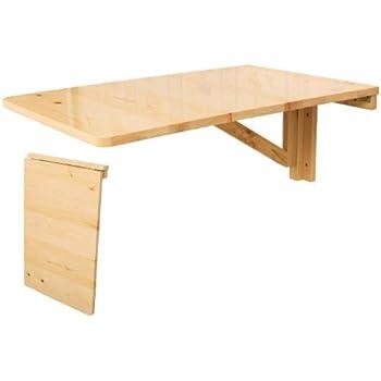 sobuy fwt04 n table murale rabattable en bois table pour les enfants 70 45cm naturel