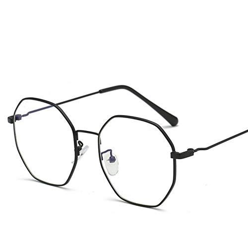 ZHENCHENYZ Polygon Computer Brillengestell Damen Herren Anti-Strahlung Brillen Transparent Vintage Brillen Classic Eyewear