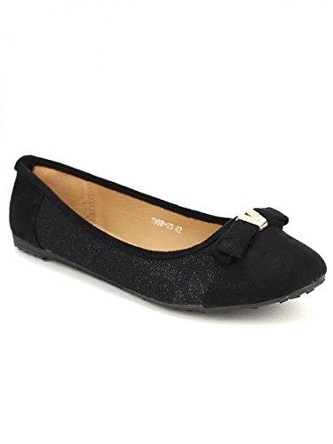 Cendriyon, Ballerine dentelle noire LYS Mode Chaussures Femme Noir