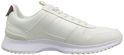 Lacoste Men's Joggeur Sneaker Off White/White Fabric 10.5 M US