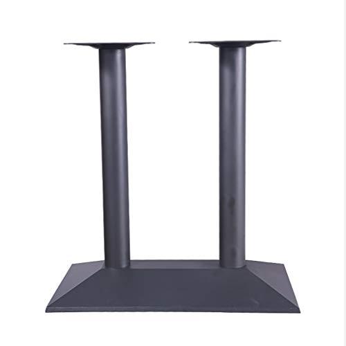Table Legs HochleistungsdoppelsäUlen-Tischbeine Restaurant Café Bar Gusseisen DIY MöBel Beine Rechteckige Basis Hause Arbeitsplatte StüTzfüßE