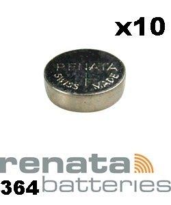 Renata SR621SW 364 Lot de piles pour montre Fabriqué en Suisse 1,55 V-Lot de 10