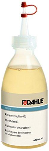 Dahle Bürotechnik Spezialöl für Aktenvernichter Aktenvernichter-Öl DAHLE 20793, Flasche, 400 ml