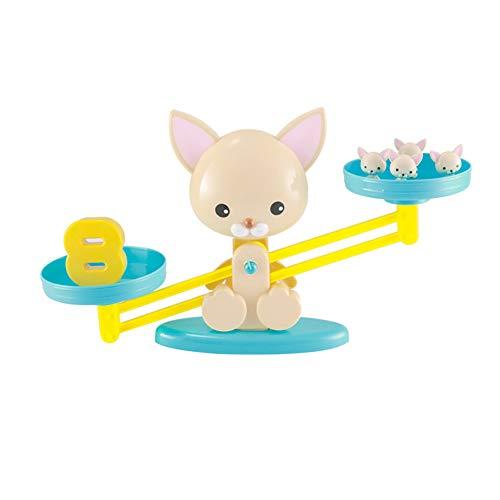 (Beito 1pc Welpen Balance Digitale Aufklärung Spielzeughund Digitale Balance Skala Kinder Science Education Aufklärung Digitale Addition und Subtraktion pädagogischen Puzzle frühe Bildung Spielzeug)