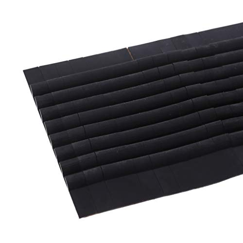 YoungerY 66Pcs Silikon Kleiderbügel Non Slip Schultergurt Grip Streifen Pad mit 8 Fins Schwarz - Non-slip Schultergurt