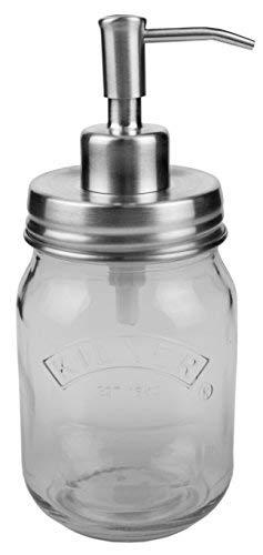 Eco Jars Silver Soap Dispenser Vintage | Stainless Steel | Kilner Quality | 0.5 Litre | Home Kitchen | Rust Proof