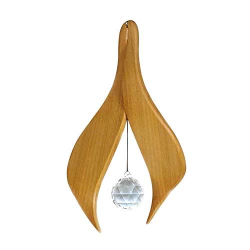 Fensterdeko aus Holz'Aisha' zum Aufhängen | Regenbogenkristall | Fensterschmuck Aisha | Fenster...
