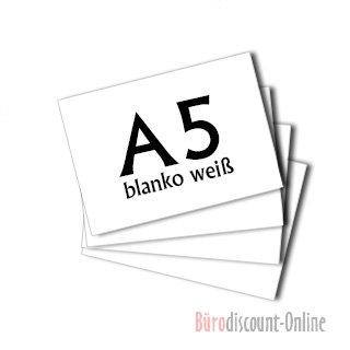 300 Karteikarten in A5 weiß blanko von Herlitz [Sparpaket]