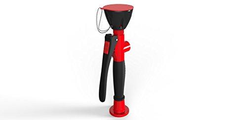 1A-Safety Notfall-Augendusche D-AR, Notdusche mit Ein-Hand-Bedienung, Erste Hilfe, Sicherheit, Dusche, DIN zertifiziert, Rot