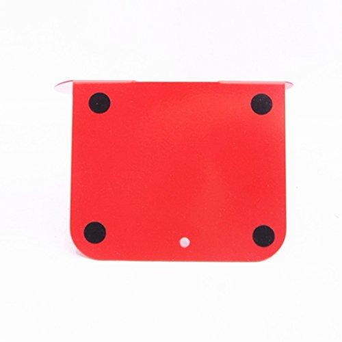 Libro Estantería Estantería Metal Un Par De 195 * 135 * 125mm Negro Rojo ( Color : Rojo )