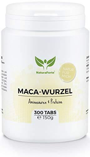 Maca En Cápsulas (300 Tabletas) | Procedente de Perú | Vitamina B, C y E y Fuente de Calcio, Hierro, Zinc y Magnesio - Fuerza - Potencia - Resistencia - Fertilidad | NaturaForte