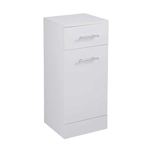 Cassellie Kass Blanco Cesta para la Ropa Sucia (pie Moderno Armario de baño, Madera, Blanco, 766mm x 350mm x 300mm White
