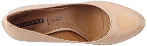 Clarks - Arista Abe, Scarpe col tacco Donna Beige (Nude Patent)