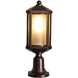 Modenny Im Freien Wasserdichte Säulen-Pole-Licht Druckguss-Aluminium-E27-Pfosten-Lichter außerhalb des regensicheren Rost-Metallgeländers LED-Säulen-Lampen-Landhaus-Landschaftswandlaterne-Wandlaterne