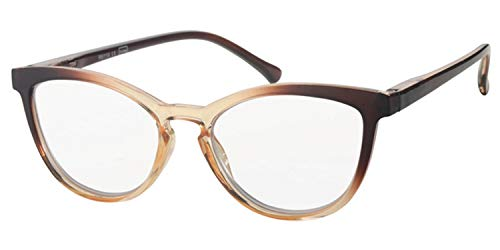 Fitsch Online UG Große moderne Damen Lesebrille +3,0 Fertigbrille Flexbügel Schmetterling-Design1