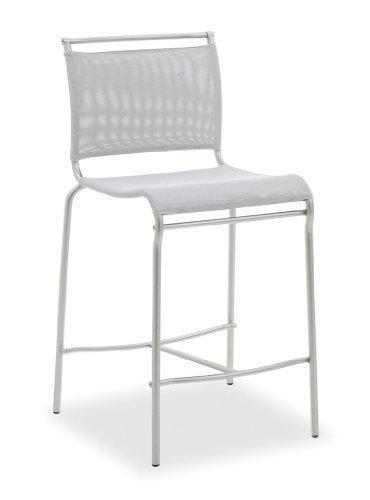 Calligaris Air seduta schienale rivestimento sedia di ristorante e sala da pranzo–Sedia di ristorante e sala da pranzo, seduta, Poliestere, PVC, Grigio, schienale rivestimento, Poliestere, Cloruro di plastificanti (PVC), Grigio)