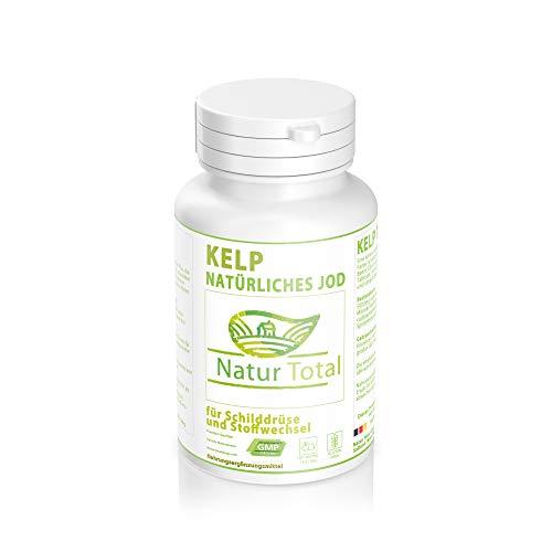Jod Kelp Extrakt 100mg mit 150µg Jod - 120 Tabletten - natürliches Jod - natürliche Quelle für Jod - Schilddrüse und Stoffwechsel