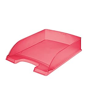 Leitz Standard Plus Letter Tray A4 Polystyrene Red Frost