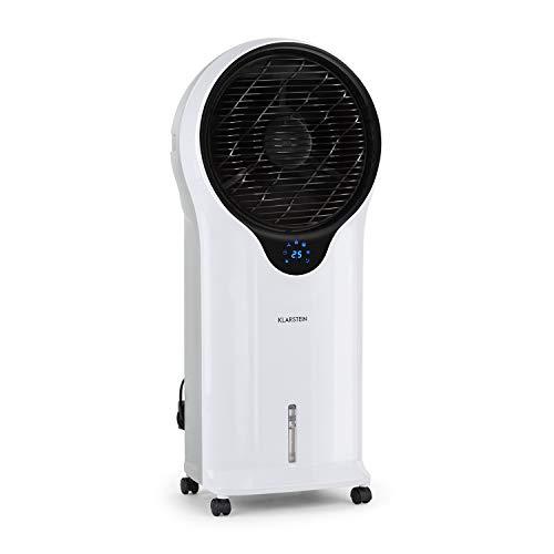Klarstein Whirlwind 3-in-1 Klimagerät Ventilator Luftkühler Luftbefeuchter (5,5 Liter Wassertank, 90 Watt, Timer, 3 Betriebsmodi, 3 Leistungsstufen, energiesparend, mit Fernbedienung) weiß