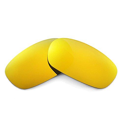 Walleva Ersatzgläser für Oakley Square Wire 2.0 Sonnenbrille - Mehrfache Optionen (24K Gold Mirror Zieht - Polarisierte)