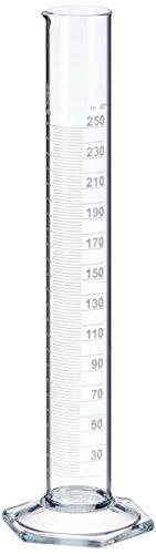 neoLab E-1267 Messzylinder, hohe Form, Sechskantfuß, Boro Kl. B, 250 mL (2-er Pack) (250-ml-pack)