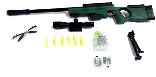 TEMSON Kids High Grade Sniper Gun Toy Big Size 31 inches with Water Crystal Bullets and Soft Bullet Dart - Play Toy Gun