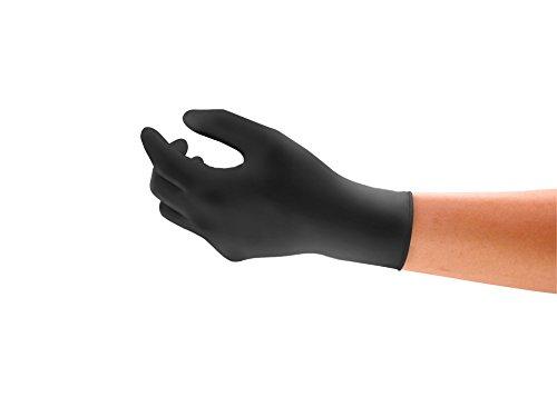 Ansell Microflex 93-852 Mehrzweckhandschuhe, Chemikalien- und Flüssigkeitsschutz, Schwarz, Größe 8.5-9 (100 Handschuhe pro Spender)
