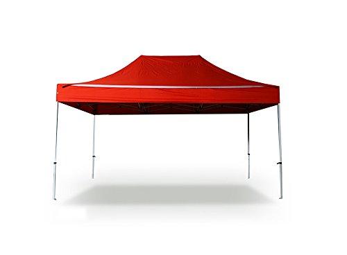 INTEROUGE Tente pliante 3x4.5 M en Aluminium et Polyester 300g/m² Tonnelle pliante Chapiteau Barnum Rouge