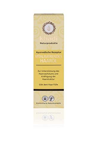 khadi Vitalisierendes Haar-Öl 100ml I Ayurvedische Haarpflege gegen Haarausfall I Naturkosmetik 100% biologisch I Sesamöl, Kokosöl & Rosmarinöl - Amla öl Haar