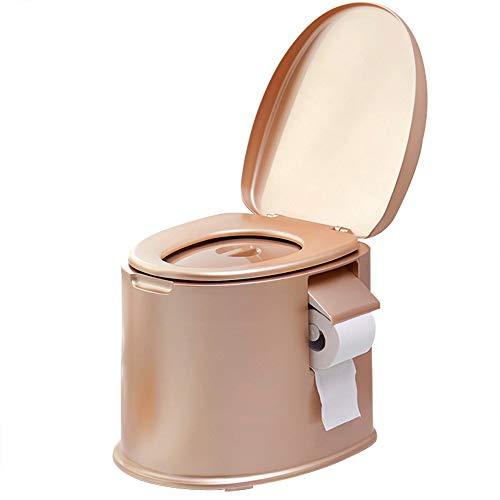 HYCZW WC Portatile, Toilette Portatile Secchio, WC Chimico Camper WC Portatile per Avere Portasciugamani di Cartaconveniente E Mobile Facile da Pulire, Dimensione H41*D41.5Cm