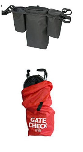 jl-childress-bundle-gate-check-bag-for-umbrella-strollers-and-deluxe-stroller-console-2-items-suppli