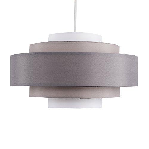 MiniSun - Pantalla para lámpara de techo moderna 'Hampshire' - Con 5 niveles y tonos de gris