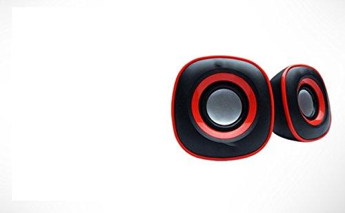 LipiWorld Multimedia USB Speaker Desktop, Laptop, etc Mini Digital 2.0-M234(Black+Red)  available at amazon for Rs.299