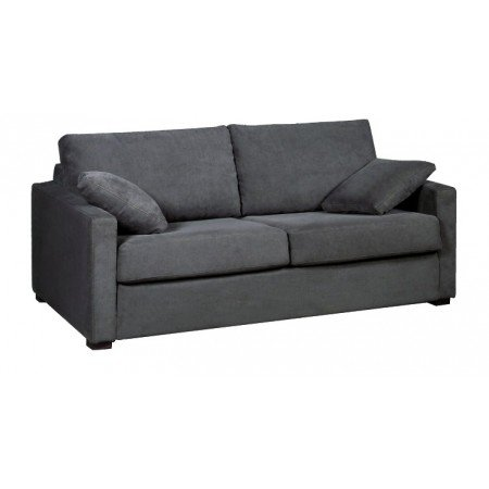Home Spirit Fabrication française - Osman 3 Places 188 Cm Tissu Hopper 100% Polyester N° 8 Gris