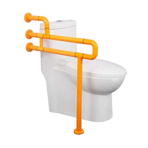 LLF Haltegriffe WC Reling, Badezimmer Handlauf Aus Edelstahl Haltegriff, Dusche Sicherheit Bar Wandmontage Badewanne Haltegriff Ältere Anti Slip (Color : Yellow, Size : 60 * 70cm)