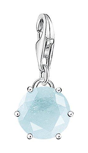 Thomas Sabo Damen-Anhänger Geburtsstein 925 Silber Auqamarin hellblau