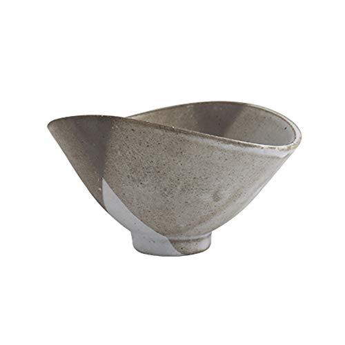 RKY Bol- Bol en grès fait à la main de style japonais, vaisselle de ménage rétro, bol à dessert en forme de bol à riz - taille: 13.8cmX7cm /-/