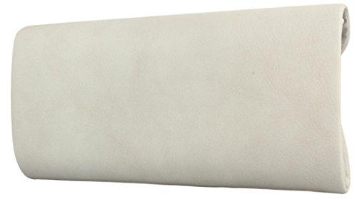 Envelope Clutch Damen Handtasche Abendtasche in schwarz weiß rot uvm Beige