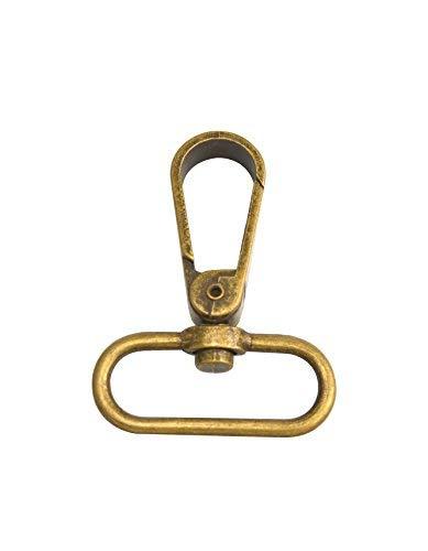 Wuuycoky - 3,81 Bronze Oval Ring, Inner Diameter, Flat Buckle, Carabiner Closure, Swivel Hooks, len: 2.3 ', Oval Ring Inner Diam: 1.5', 6Pcs