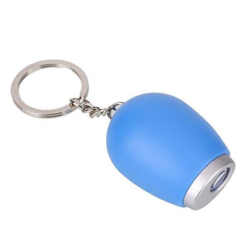 LED Uhr Projektion Wecker Mit Projection Mini SchlüSselanhäNger Kette SchlüSsel Lanyard Klein Digitale Uhren FüR Halloween Geschenk (Blau)