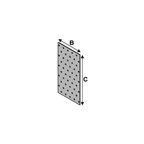 Alsafix - 10 plaques perforées (l x L x ép) 140 x 400 x 2,0 mm - AL-PP140400 - Alsafix