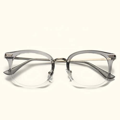 Lightpurple Brillenfassungen Brillen für Frauen Brillen für Frauen ohne Rezept (Color : Gray)