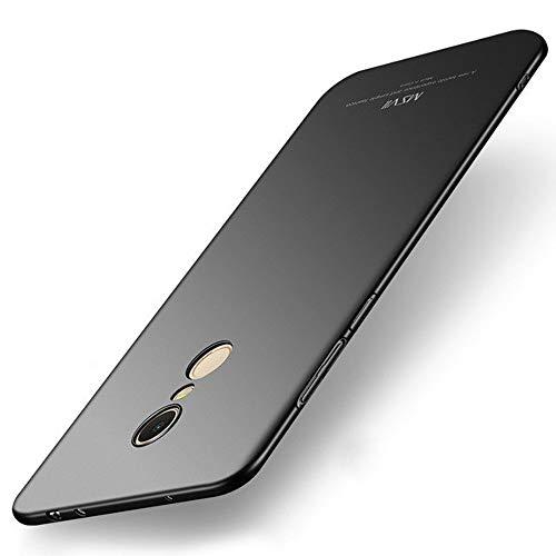 Estuyoya Xiaomi Redmi 5 Plus Funda, Carcasa Trasera Rígida [Ultra-Fina] Resistente Caidas y Golpes [Anti Huellas] Protección Ligera [Slim Series] - Negro