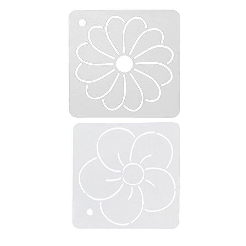 FLAMEER 2 Stücke Kreative Acryl Quilt Quilten Vorlage DIY Handwerk 12x12 cm (Acryl-quilt-vorlagen)